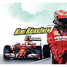 Kimi Raikkonen - 7 - Ferrari by evenstarsaima