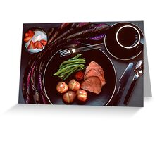 Healthy Dinner Greeting Card