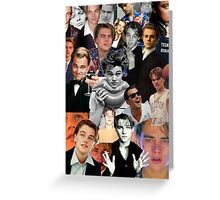 Leonardo Dicaprio Collage Greeting Card