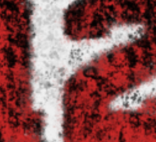 Abstract Twelve Paint Splatter - Black On Red Sticker
