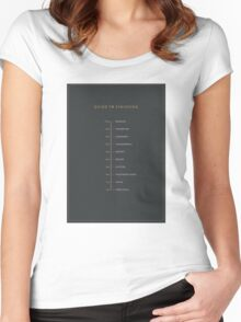 Football Cliche Guide to Finishing Women's Fitted Scoop T-Shirt