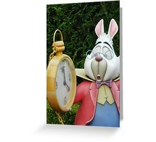 White Rabbit  Greeting Card