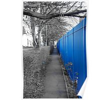 Blue Fence Poster