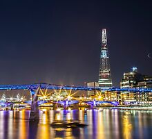 Millennium Bridge and The Shard by Vincent Sluiter
