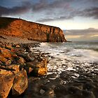 Stranger at the Shore, Nash Point, Glamorgan Coast, South Wales by dotcomjohnny
