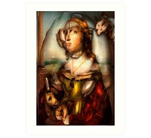 Ghost Portrait Nr. 1 - Woman with Unicorn Art Print