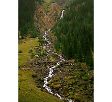 Mountain Waterfall in Colorado  Photographic Print