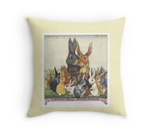 Easter Bunny Family Portrait Throw Pillow