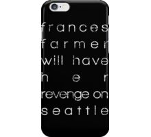 Nirvana (Kurt Cobain) Frances Farmer iPhone Case/Skin