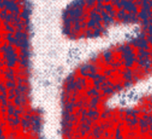 Abstract Twelve Team Spirit - Red On Blue Sticker