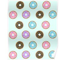 Doughnuts - Blue Poster