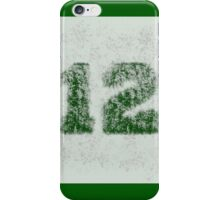 Abstract Team Spirit - Dark Green On Silver iPhone Case/Skin