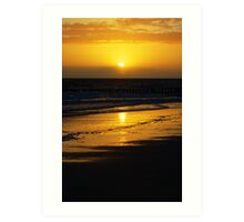 SunsetBeach Art Print