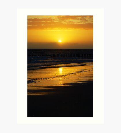SunsetBeach Art Print