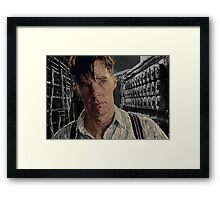 The Imitation Game - Benedict Cumberbatch Digital Portrait  Framed Print