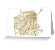San Francisco map Greeting Card