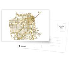 San Francisco map Postcards