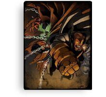 Spawn and Hellboy Canvas Print