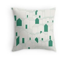Hill Houses Throw Pillow