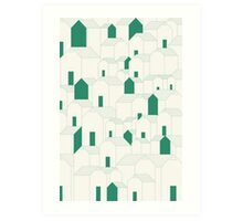Hill Houses Art Print