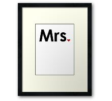 Couple - Mrs. Heart Framed Print