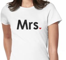 Couple - Mrs. Heart Womens Fitted T-Shirt