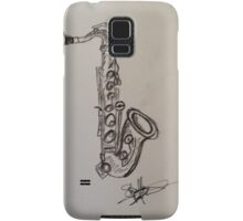 A saxophone in charcoal Samsung Galaxy Case/Skin