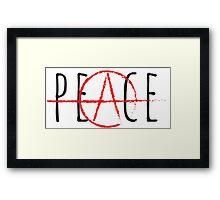 Peace/Anarchy Framed Print