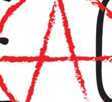 Peace/Anarchy Sticker