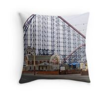 The Big One Blackpool Throw Pillow