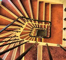 Stairwell at the Sognefjord by Larry Lingard-Davis