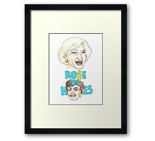 Rose Before Hoes  Framed Print