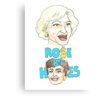 Rose Before Hoes  Canvas Print