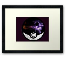 The World In A Pokeball Framed Print