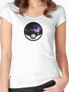 The World In A Pokeball Women's Fitted Scoop T-Shirt