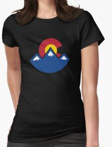 Colorado Sunset Womens Fitted T-Shirt