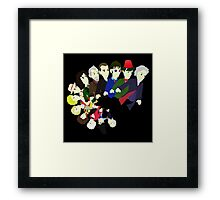 The 13 Puppet Doctors Framed Print