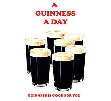 a pint a day Photographic Print