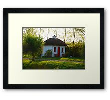 Irish Canal Cottage Framed Print