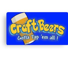 Pokemon meets craft beers Canvas Print