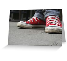 Converse (Red) Greeting Card