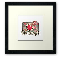 Oh Snap! Camera Framed Print