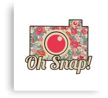 Oh Snap! Camera Canvas Print