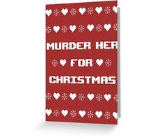 Carmilla Christmas Jumper Greeting Card