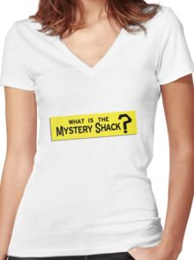 What IS the Mystery Shack? Women's Fitted V-Neck T-Shirt