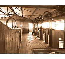 Peron Station Shearing Shed Photographic Print