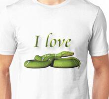I Love Snakes Unisex T-Shirt