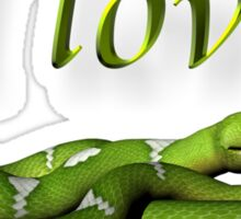 I Love Snakes Sticker