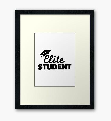 Elite Student Framed Print