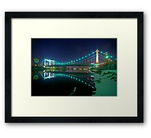 Hennepin Avenue Bridge, Winter's Night Framed Print